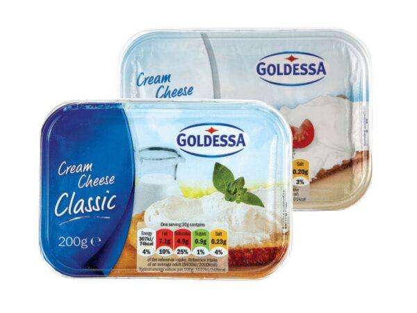 Goldessa tuorejuusto kevyt Сливочный сыр для завтраков