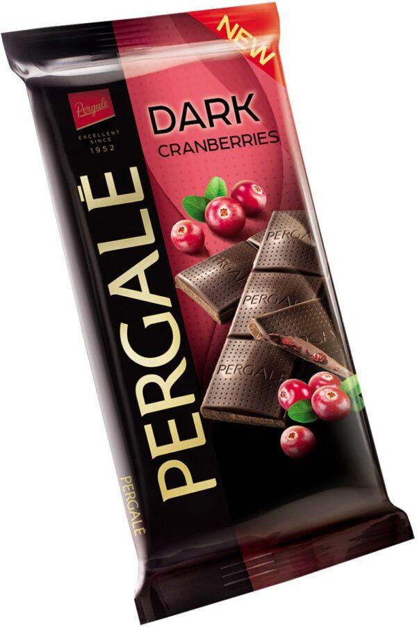 Шоколад темный Pergale с начинкой клюква 100 г ЭСТОНИЯ