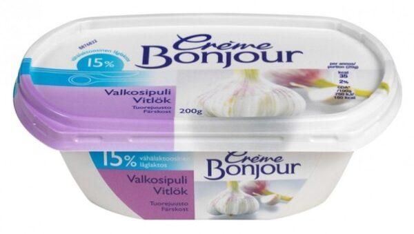 Творожный сыр Bonjour 200 г с чесноком