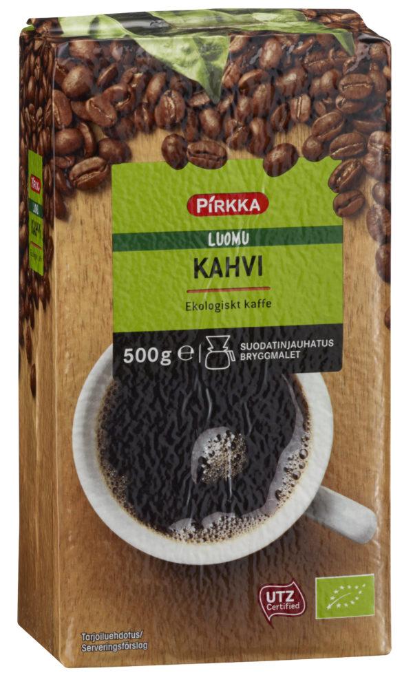 Pirkka kahvi 500g Luomu kahvi tumma paahto