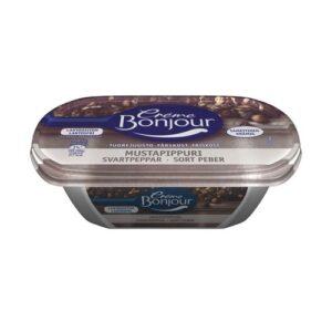 Creme Bonjour mustapippuri сыр с перцем творожный