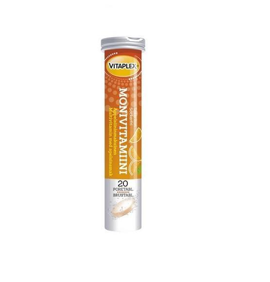 Шипучие витамины Sana-sol Monivitamiini Апельсин 20 таблеток