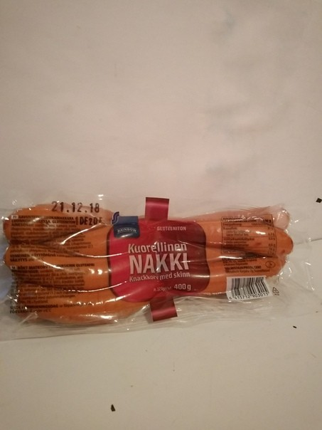Сосиски куриные Kuorellinen nakki 400 г