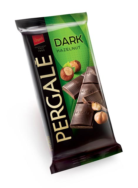 Шоколад темный Pergale с начинкой фундуком 100 г ЭСТОНИЯ