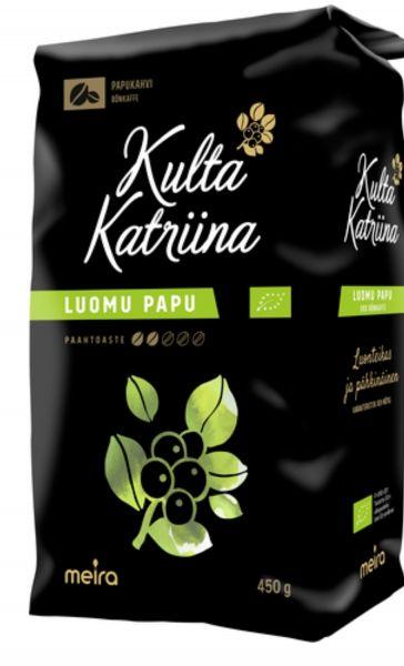 Кофе Kulta Katrina зерновой 450 г luomu papu