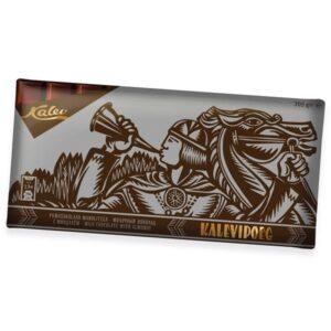Kalevipoeg молочный шоколад с миндалём 300г ЭСТОНИЯ