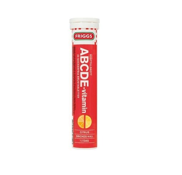 Шипучие витамины FRIGGS ABCDE Апельсин 20 шт