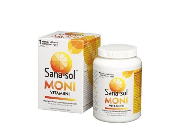 Витаминно-минеральный комплекс Sana-sol monivitamiini 200 таблеток