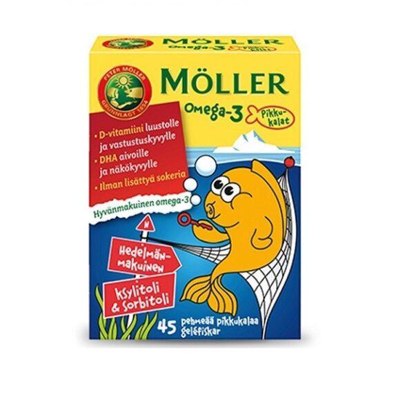 Рыбки Moller Omega-3 45 капсул тутти-фрутти