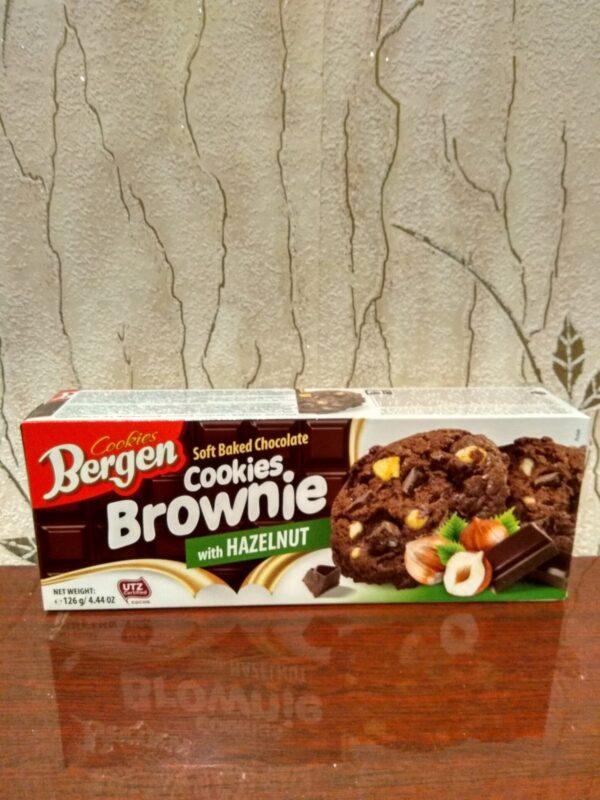 Печенье Bergen Brownie с орехом 126 г