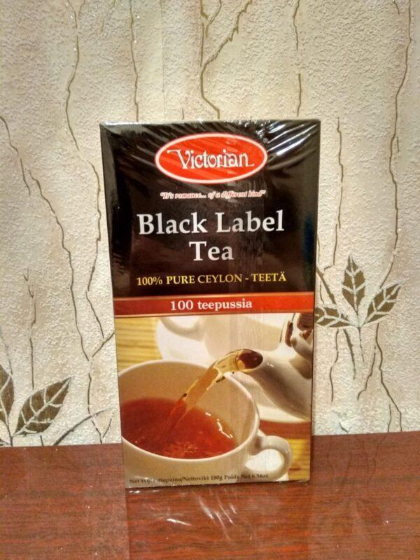 Чай Victorian 100п Black Label Ceylon