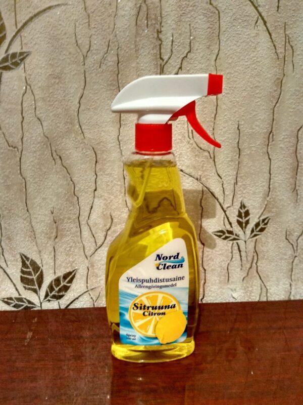 Спрей для окон и стекол Nord Clean Лимон 500 мл
