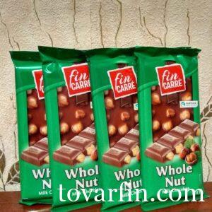 Шоколадка Fin Carre c цельным фундуком 100g