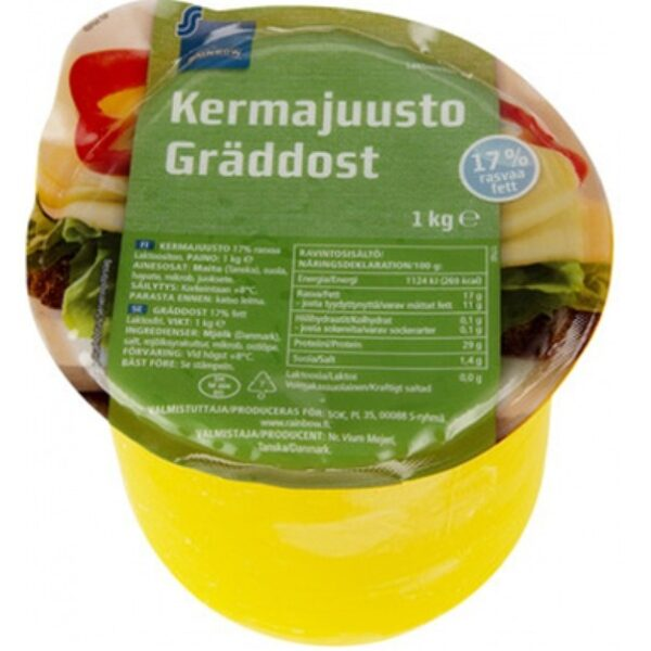Сыр Rainbow Kermajuusto (17%) 1 Кг.
