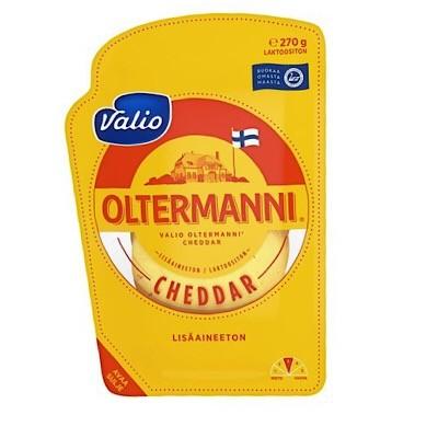 Сыр oltermanni Cheddar 27 % нарезка 270 г