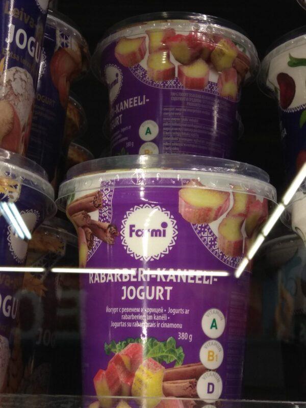 Йогурт с ревенем и корицей Farmi 400г ЭСТОНИЯ