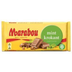 Шоколад с мятным вкусом Марабу Marabou 200г