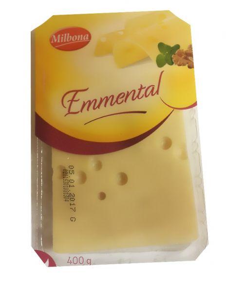 Сыр нарезка Мильбона Эмменталь 400г