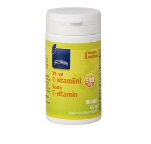 Витамин C Rainbow усиленного действия 500 мг 90 шт.