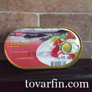 Треска в томатном соусе 170г