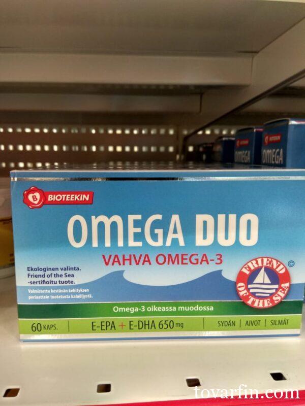 Рыбий жир в капсулах Duo Omega Vahva Omega-3 120