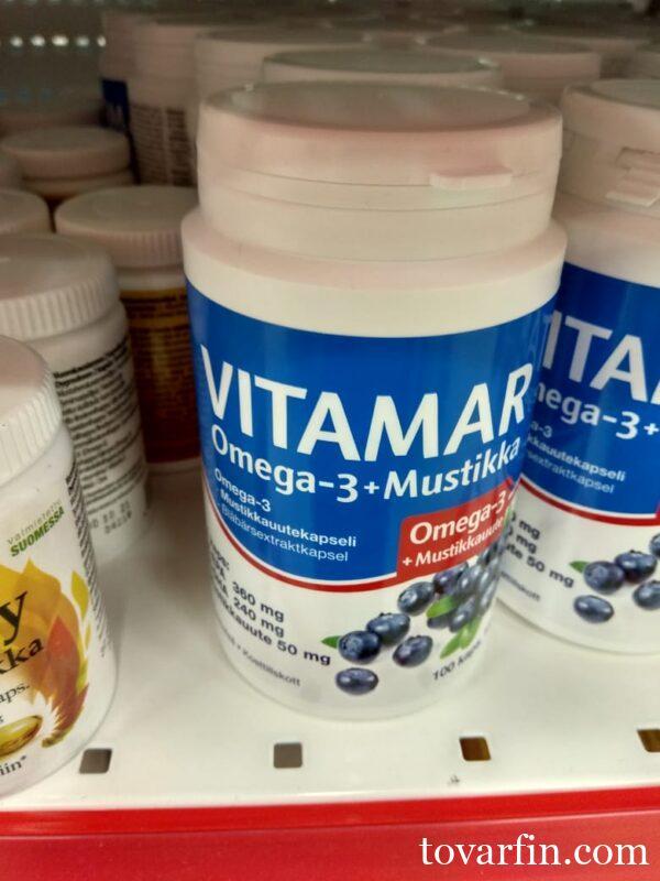 vitamar omega-3+mustikka