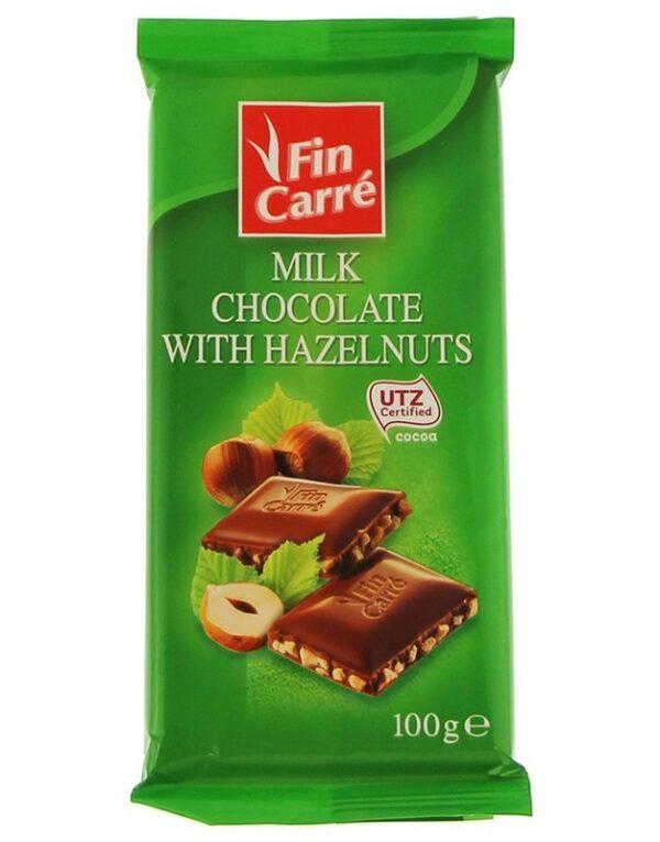 Шоколад молочный Finn Carre с дробленым орехом 100 г