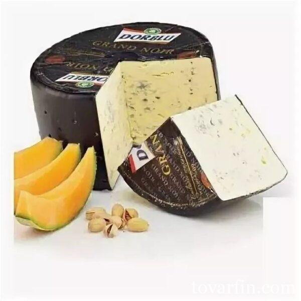 Сыр Dorblu Grand Noir с голубой плесенью 60% Цена за 100г