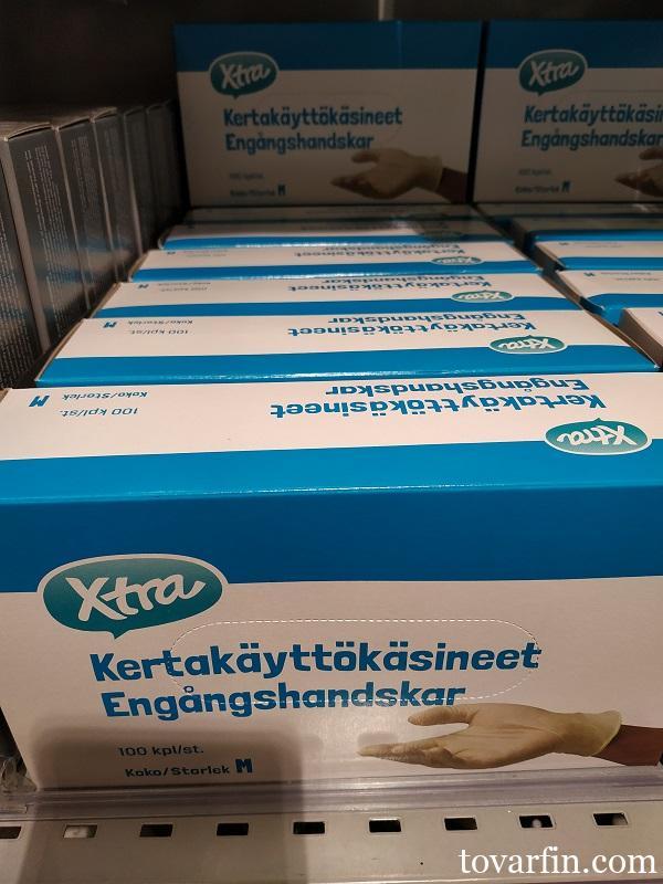 Перчатки из натурального каучука размер М XTRA 100 шт