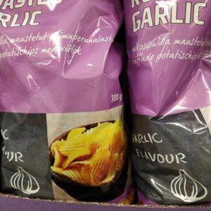 Рифлёные картофельные чипсы с чесноком 300гр Rainbow