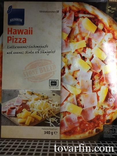 Rainbow Пицца Гавайская Ветчина/Ананас/Сыр 340г