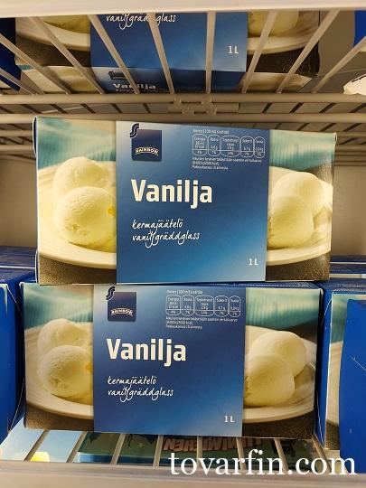 Rainbow Мороженое сливочное 1л/480г с ванильным вкусом