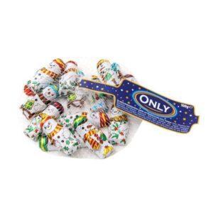 Шоколадные новогодние снеговики Only, 100 гр