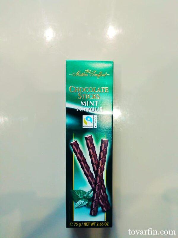 Maitre Truffout Шоколадные палочки c мятной начинкой 75 гр.