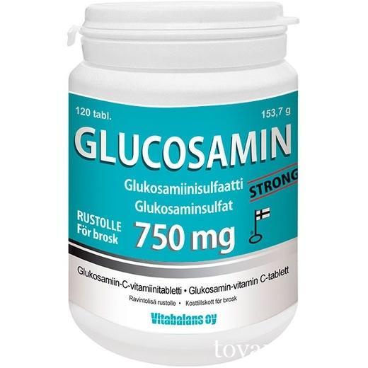 Витамины для суставов Glucosamin 750 мг 120 таблеток Vitabalans