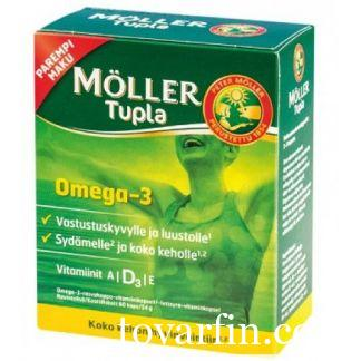 Рыбий жир Omega-3 Moller Tupla 60 капсул