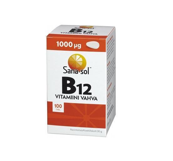 Витамин B12 Vitamiini Vahva B12 1000 мкг 100 таблеток Sana-Sol