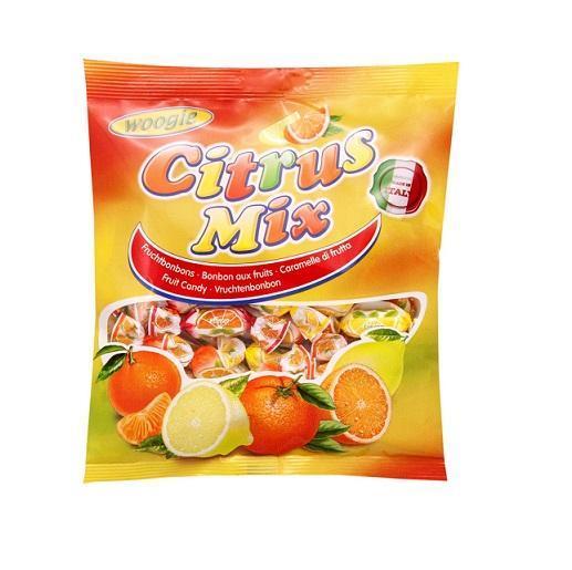 Карамель леденцовая с начинкой со вкусом лимона, апельсина и мандарина Citrus Mix 250 г Woogie