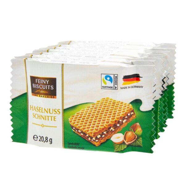 Вафли Feiny Biscuits hazelnuts какао-крем с фундуком 8x20,8g