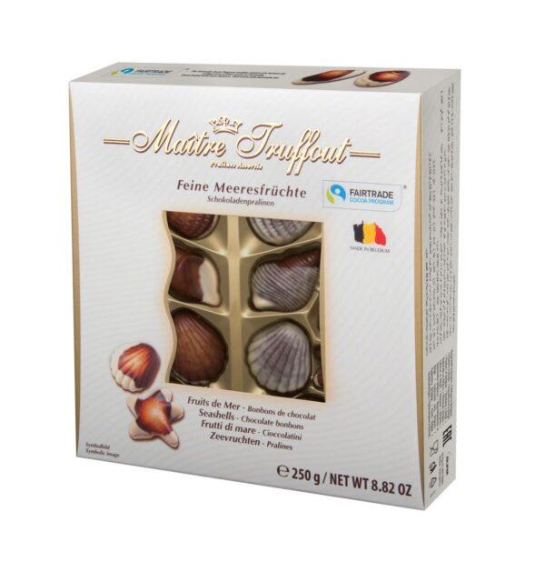 """Шоколадные конфеты """"Дары моря"""" с начинкой пралине Maitre Truffout 250 г"""